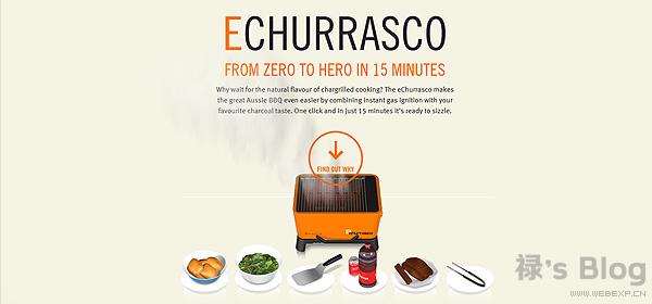 开动大脑!20个顶尖的HTML5动画网站欣赏!2.Everdure eChurrasco