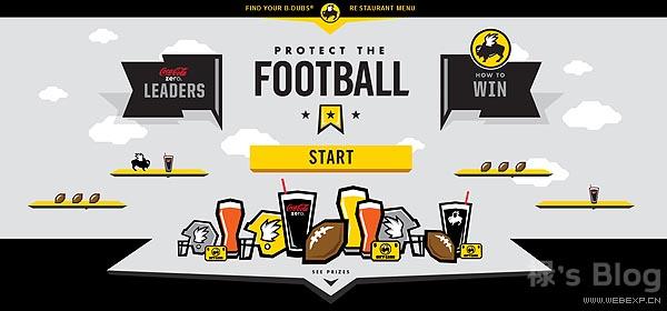 开动大脑!20个顶尖的HTML5动画网站欣赏!4.Protect The Football
