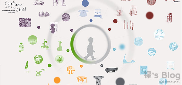 开动大脑!20个顶尖的HTML5动画网站欣赏!5.Century of the Child