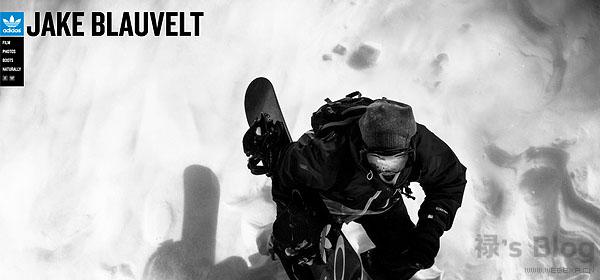 开动大脑!20个顶尖的HTML5动画网站欣赏!6.Adidas Snowboarding
