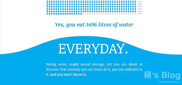 开动大脑!20个顶尖的HTML5动画网站欣赏!16.Virtual Water