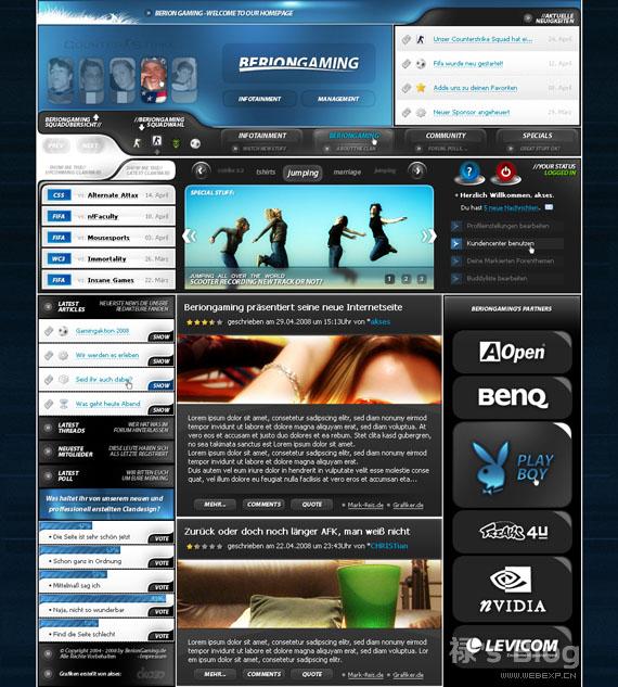 灵感的干货!46个为你带来灵感的游戏网站设计!eSports by akses