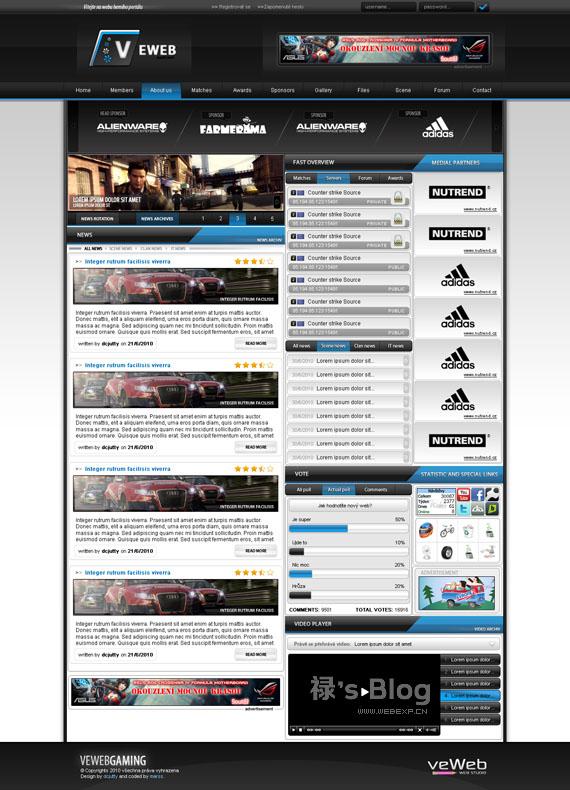 灵感的干货!46个为你带来灵感的游戏网站设计!Eweb by dcjutty