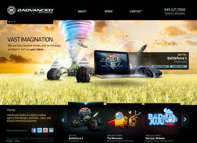 10+ 鼓舞人心的Web开发公司!鼓舞人心,激发灵感!2Advanced Studios