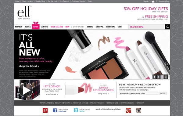 28个化妆品网站欣赏-美丽将拯救世界