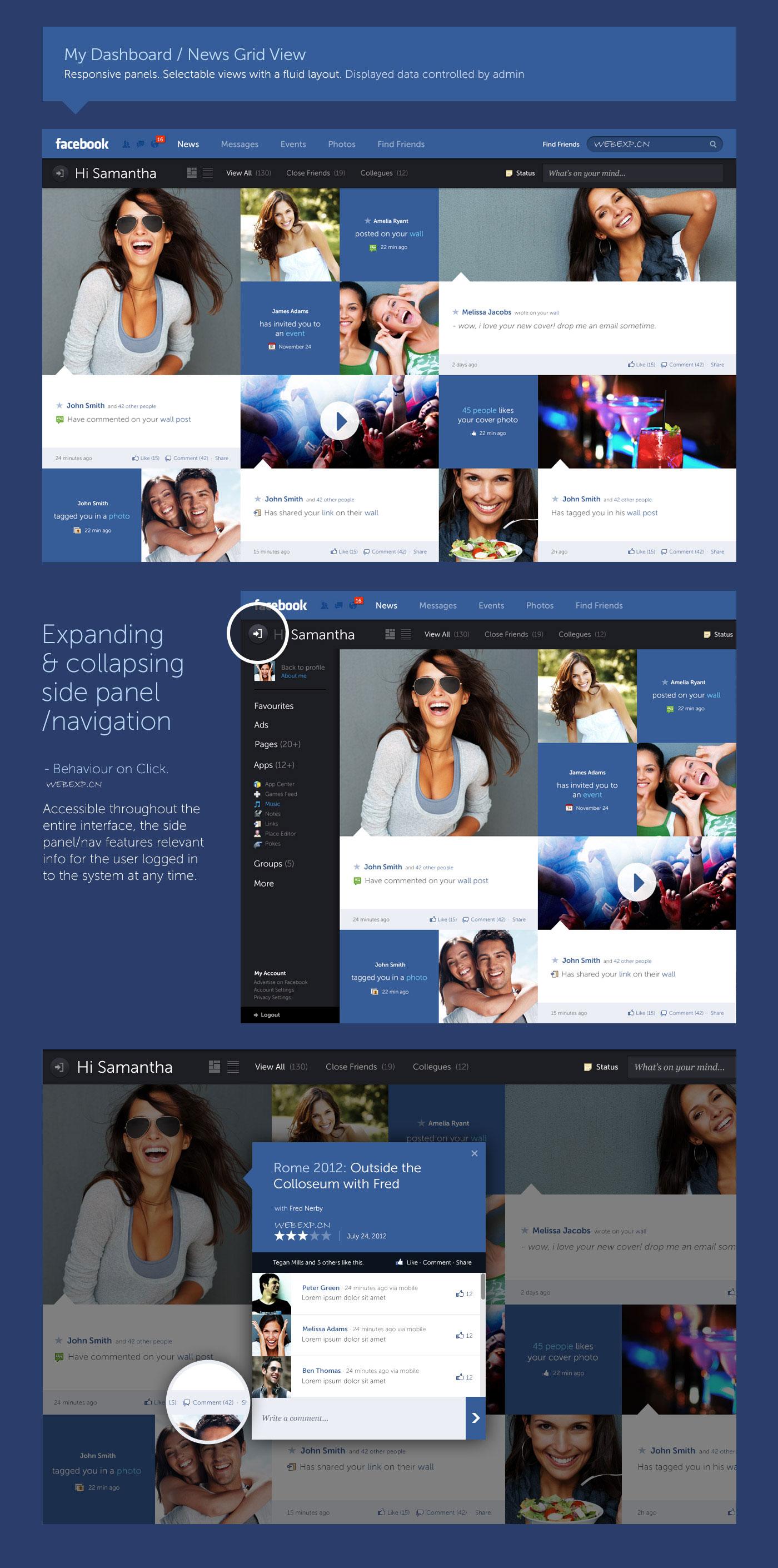 澳大利亚设计师 Fred Nerby 发布 Facebook概念图,相信很快人人就会改版!